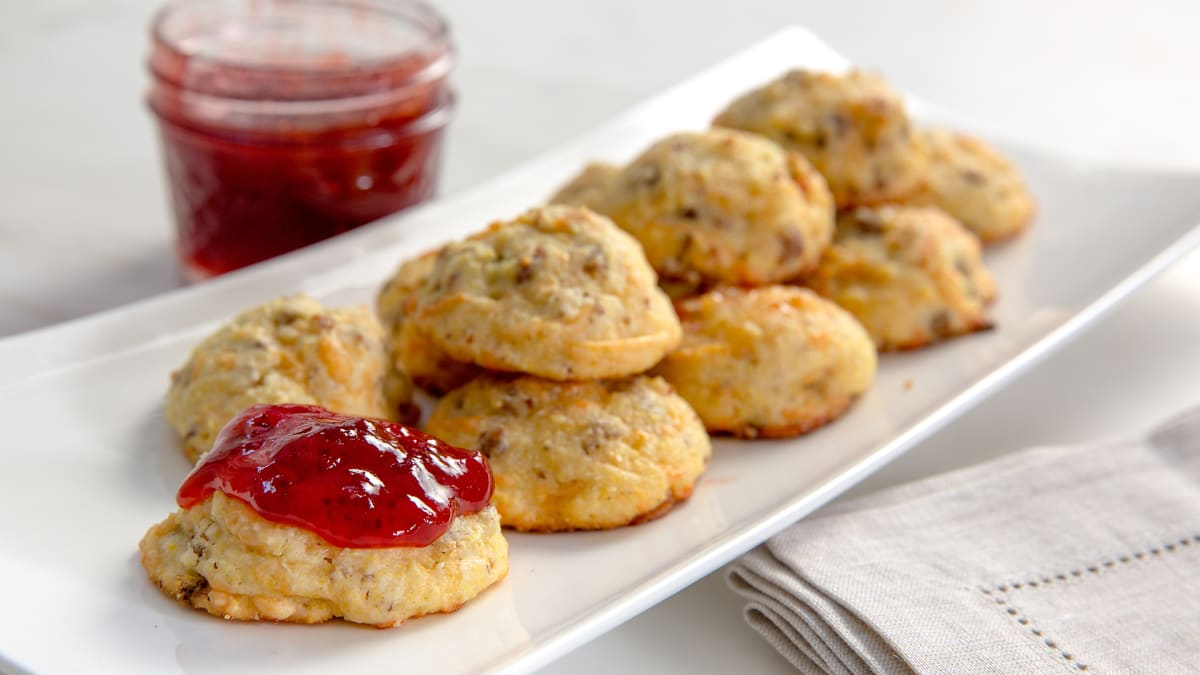 These jam-covered cookies are the perfect marriage of sweet and savory.