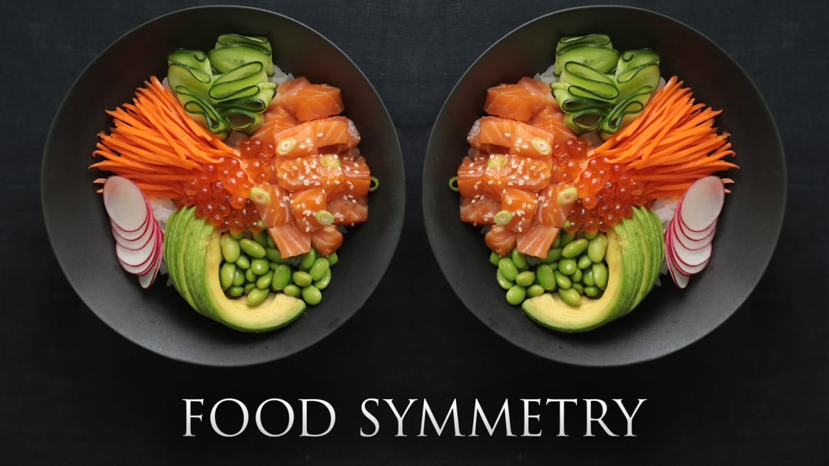 Create delicious food symmetry with an artfully arranged ramen bowl.