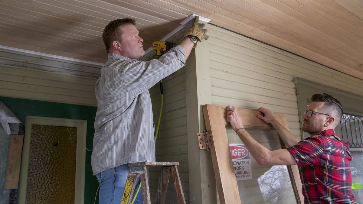Luke and Clint work to transform a 1900s triplex into a single-family home.