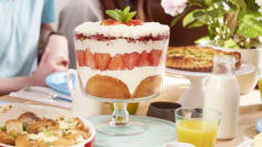 Strawberry Pancake Trifle